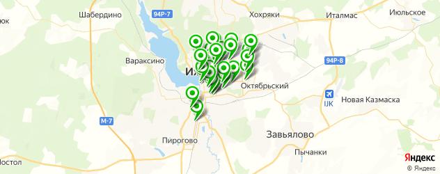 школы танцев на карте Ижевска