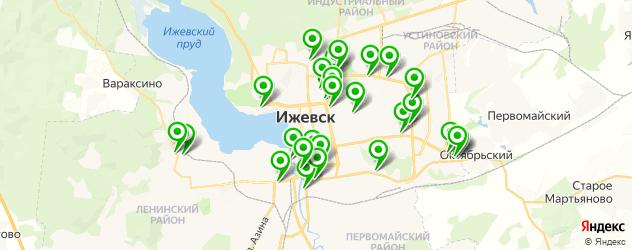 Авто на карте Ижевска