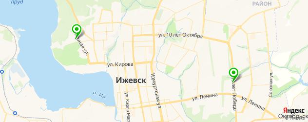 парковки на карте Ижевска