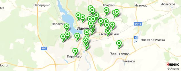 гаражи на карте Ижевска