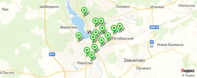 кафе для выпускного на карте Ижевска