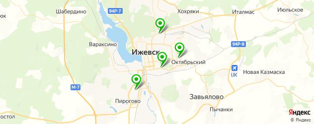 вечерние школы на карте Ижевска
