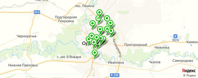 эвакуаторы на карте Оренбурга