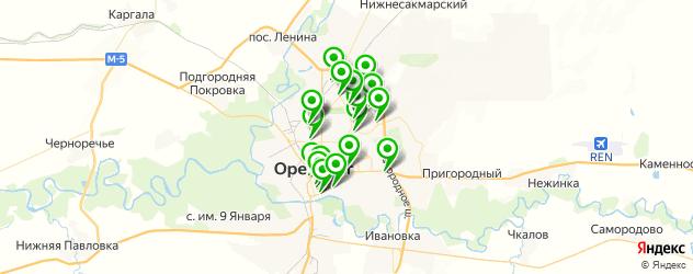 кофейни на карте Оренбурга