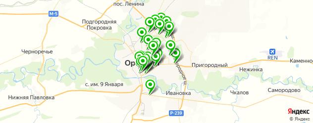 Доставка пиццы на карте Оренбурга