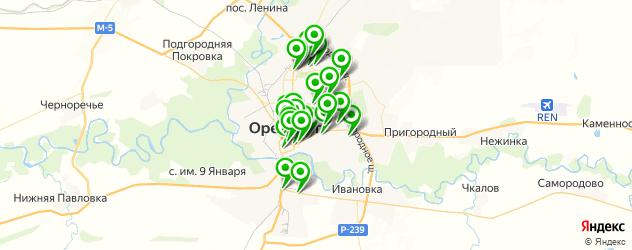 компьютерные помощи на карте Оренбурга