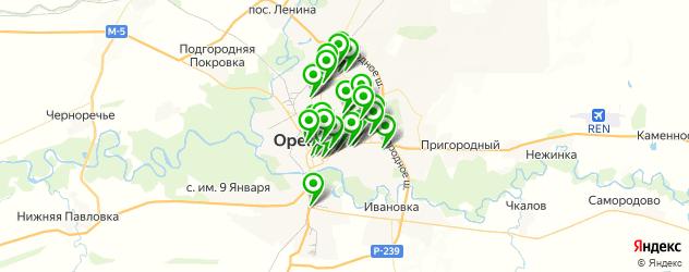 сервисные центры на карте Оренбурга