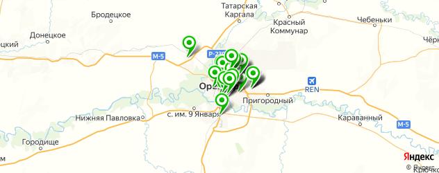 Спорт и фитнес на карте Оренбурга