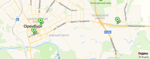 грузинские рестораны на карте Оренбурга
