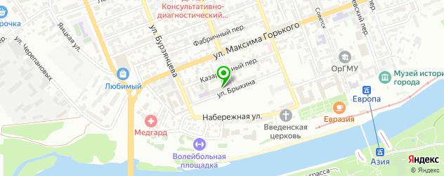 скалодромы на карте Оренбурга