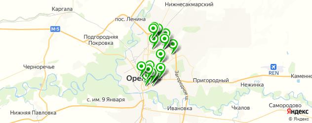 фотостудии на карте Оренбурга