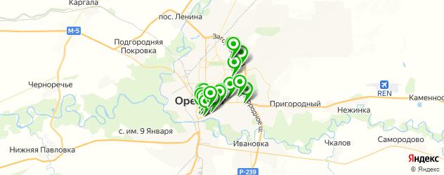 кафе на карте Оренбурга