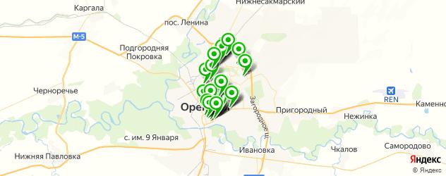 банки на карте Оренбурга
