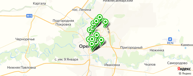 Финансы на карте Оренбурга