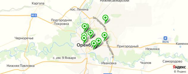 гаражи на карте Оренбурга