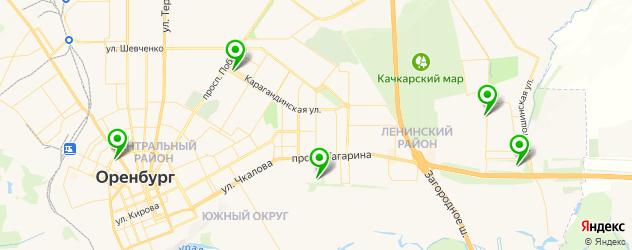 детские поликлиники на карте Оренбурга