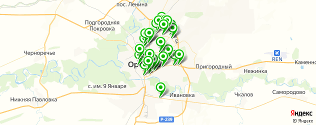 банкоматы на карте Оренбурга