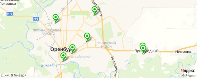 спортивные клубы на карте Оренбурга
