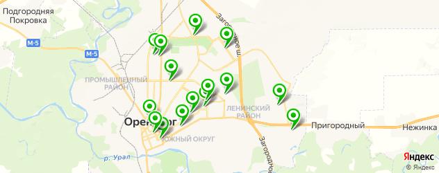 женские фитнес-клубы на карте Оренбурга