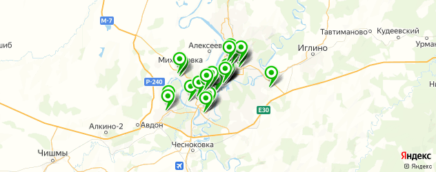 ломбарды на карте Уфы