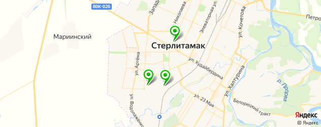 прачечные на карте Стерлитамака