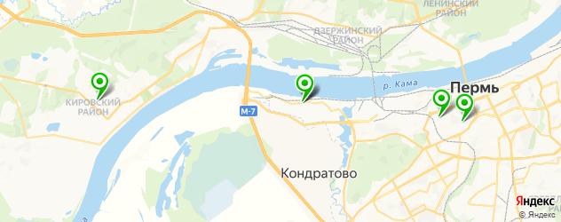 парковки на карте Перми