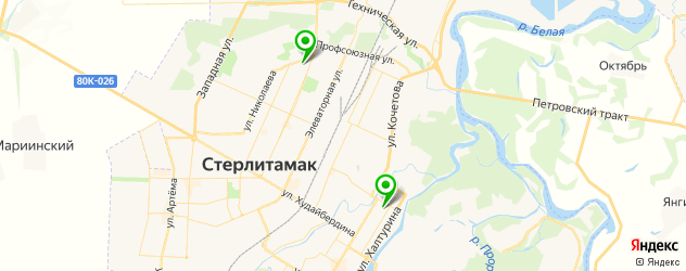 стадионы на карте Стерлитамака