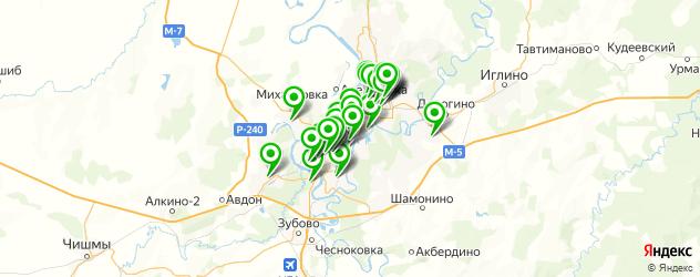 химчистки на карте Уфы