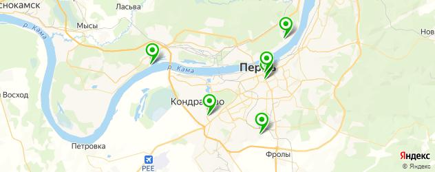 санатории на карте Перми