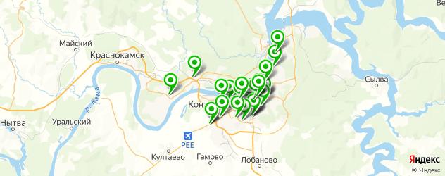 магазины автоаксессуаров на карте Перми