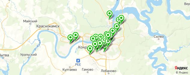 спортивные школы на карте Перми