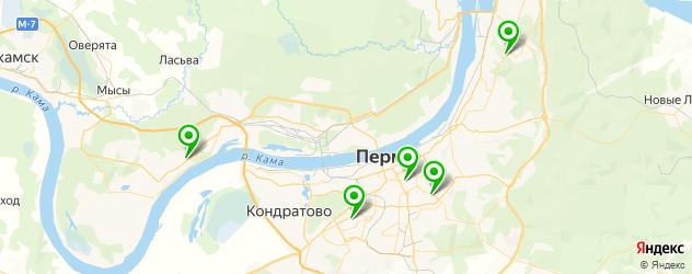фитнесы с бассейном на карте Перми