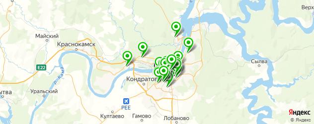 колледжи на карте Перми