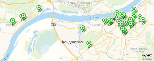 Доставка суши на карте Перми