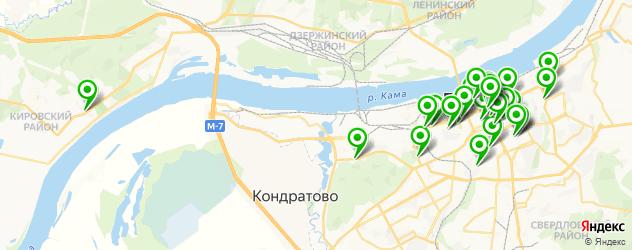 кафе на карте Перми