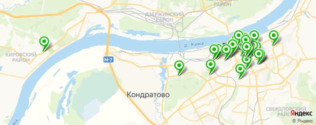 кафе для дня рождения на карте Перми