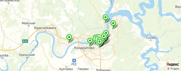 караоке-клубы на карте Перми