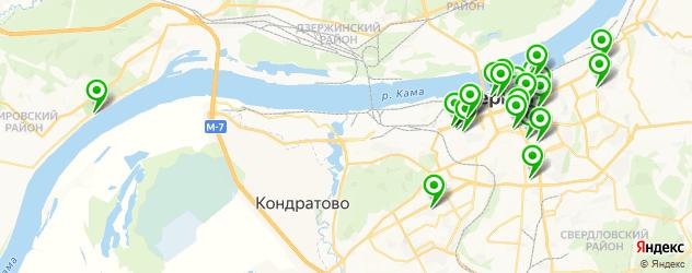 спорты-бары на карте Перми