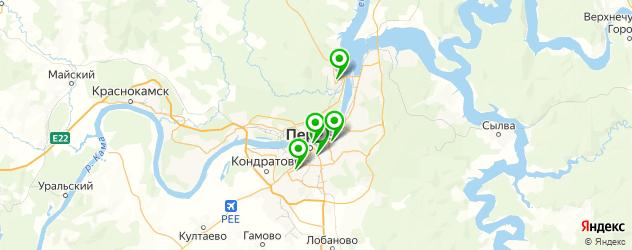 боулинги на карте Перми