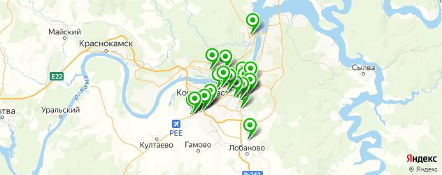 Авто на карте Перми