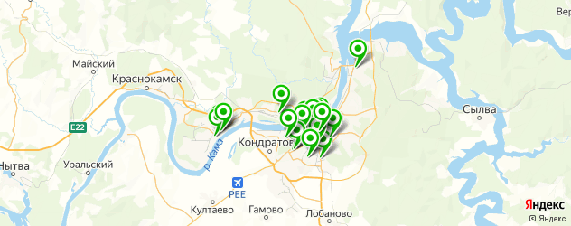 салоны оптики на карте Перми