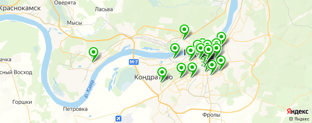 вегетарианские кафе на карте Перми