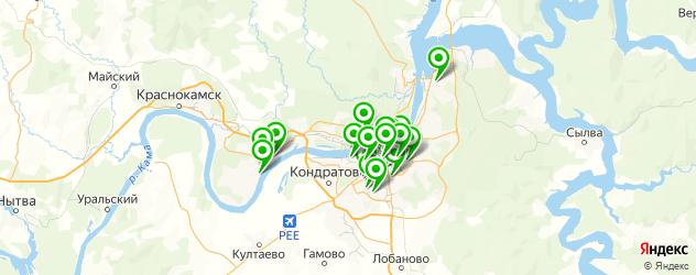 кафе с живой музыкой на карте Перми