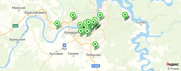 аптеки на карте Перми