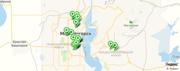 колледжи на карте Магнитогорска