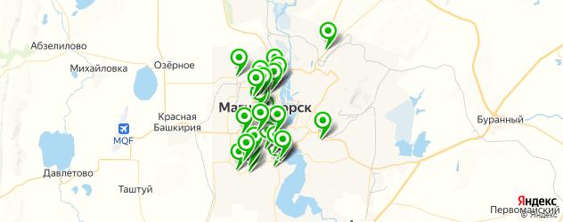 сауны на карте Магнитогорска