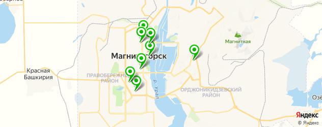 спортивные клубы на карте Магнитогорска