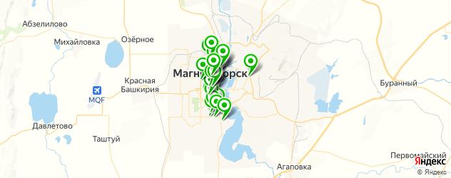 банки на карте Магнитогорска