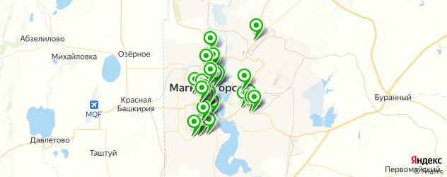 библиотеки на карте Магнитогорска