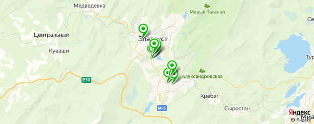 рестораны европейской кухни на карте Златоуста